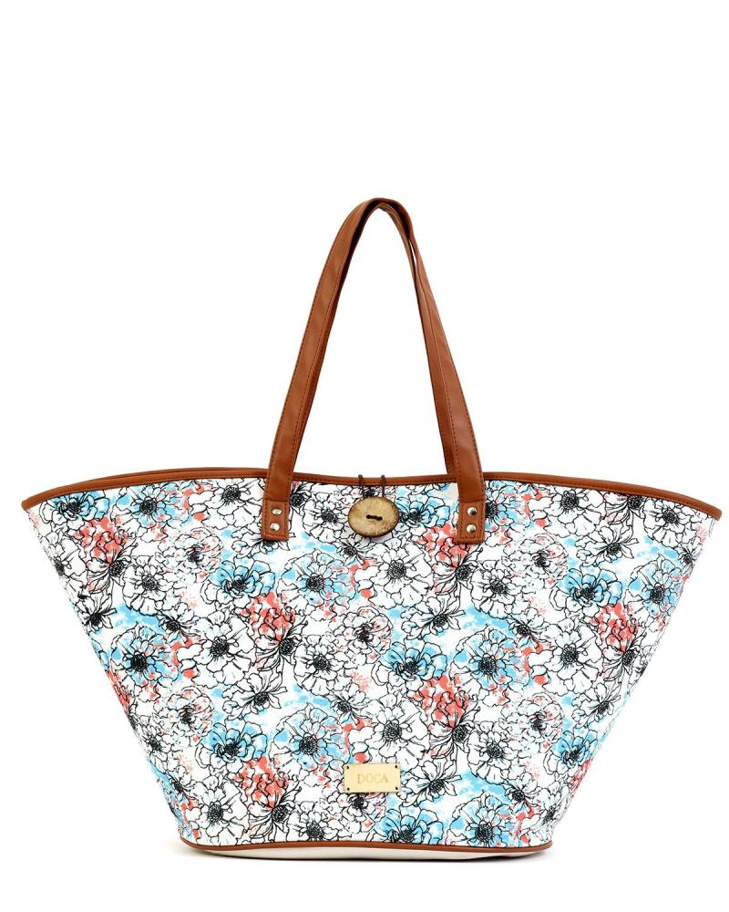 Multicolor beach bag