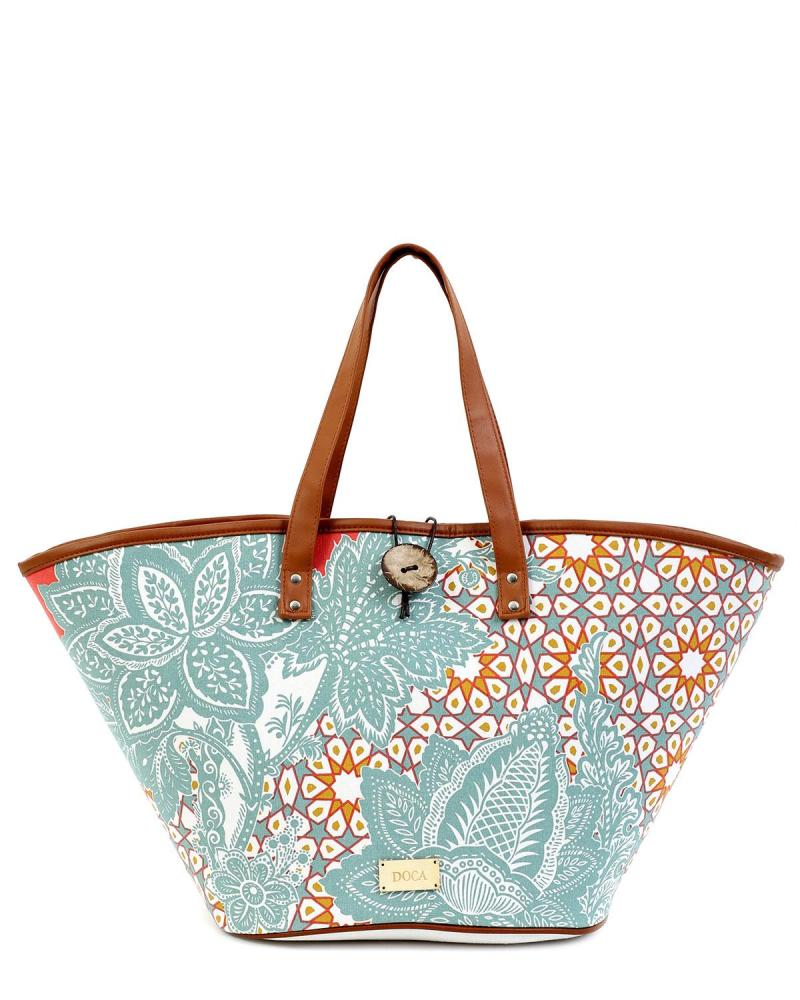 Mint green beach bag