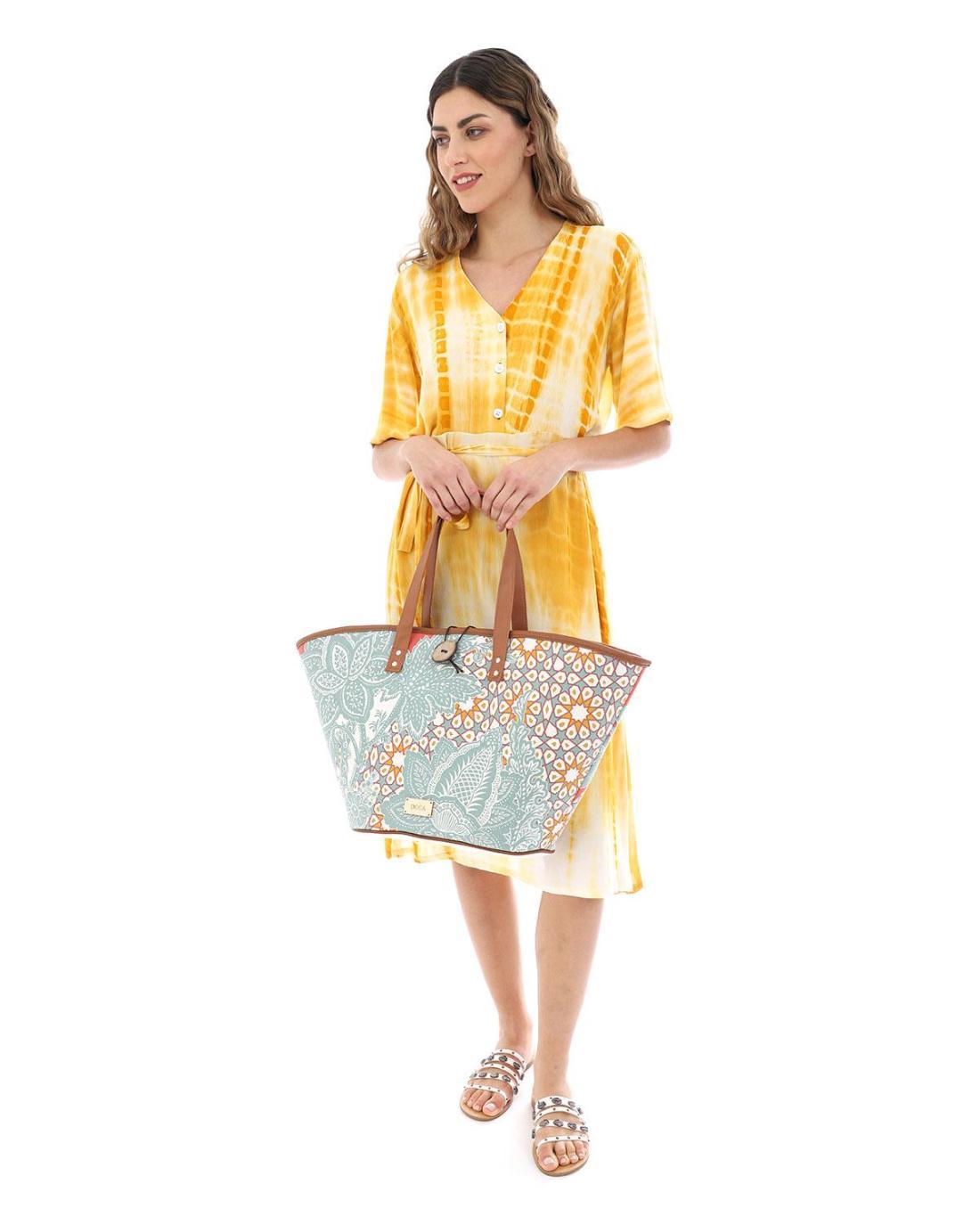 Mint green beach bag