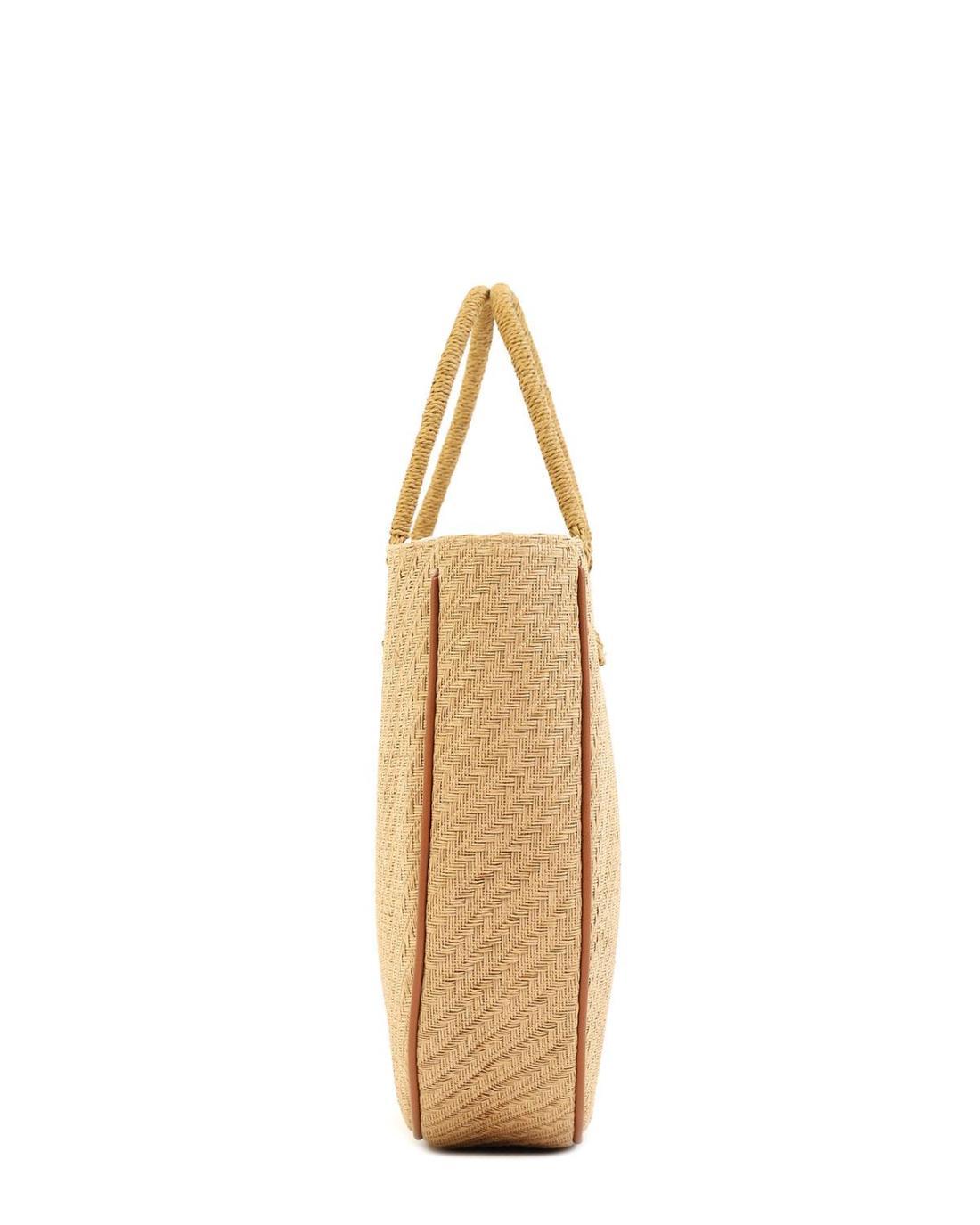 Papierstroh braune strandtasche