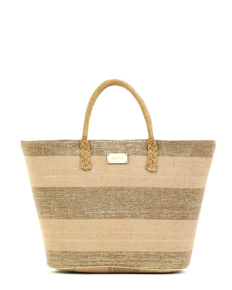 Beige beach bag