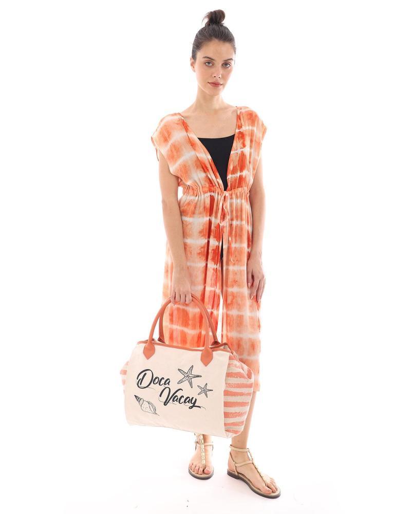 Τσάντα θαλάσσης πορτοκαλί