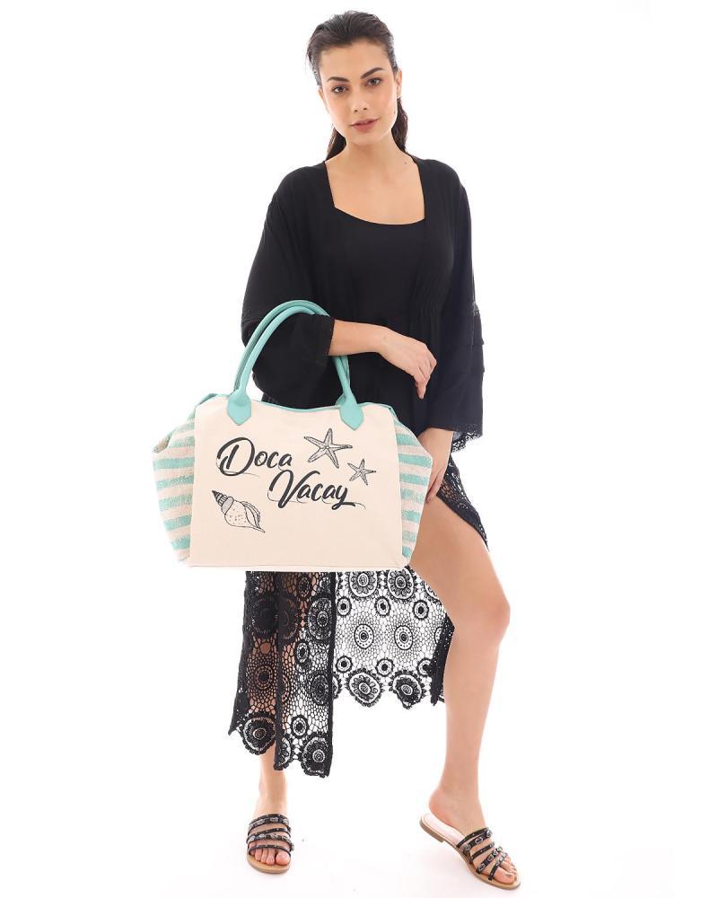 Minzgrüne strandtasche