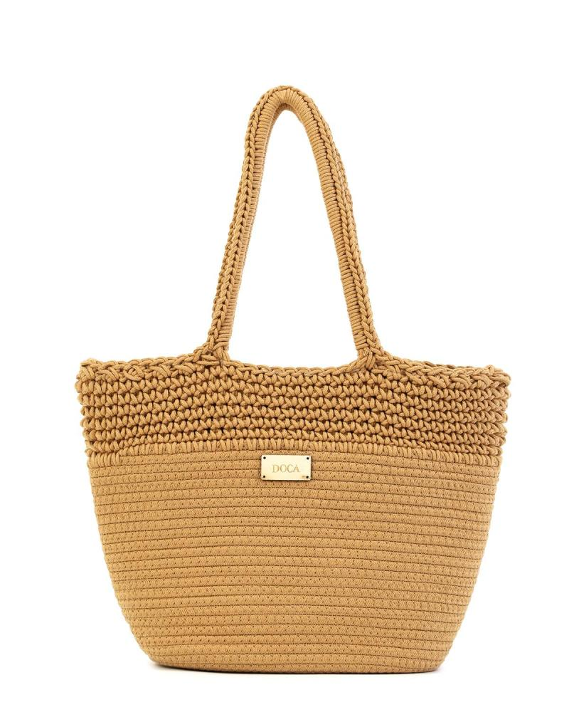 Paper straw camel beach bag