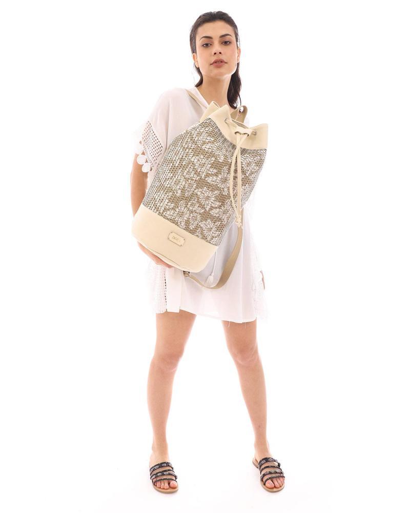 Τσάντα θαλάσσης μπεζ