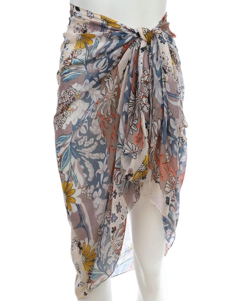 Multicolor pareo-foulard