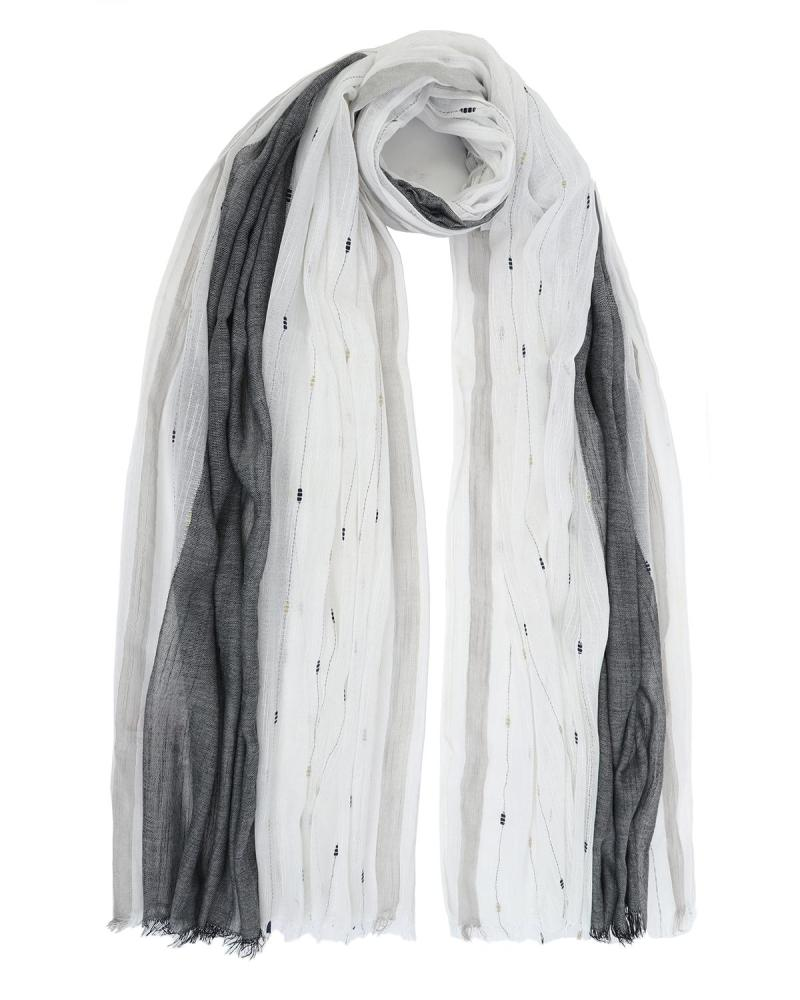 Black pareo-foulard