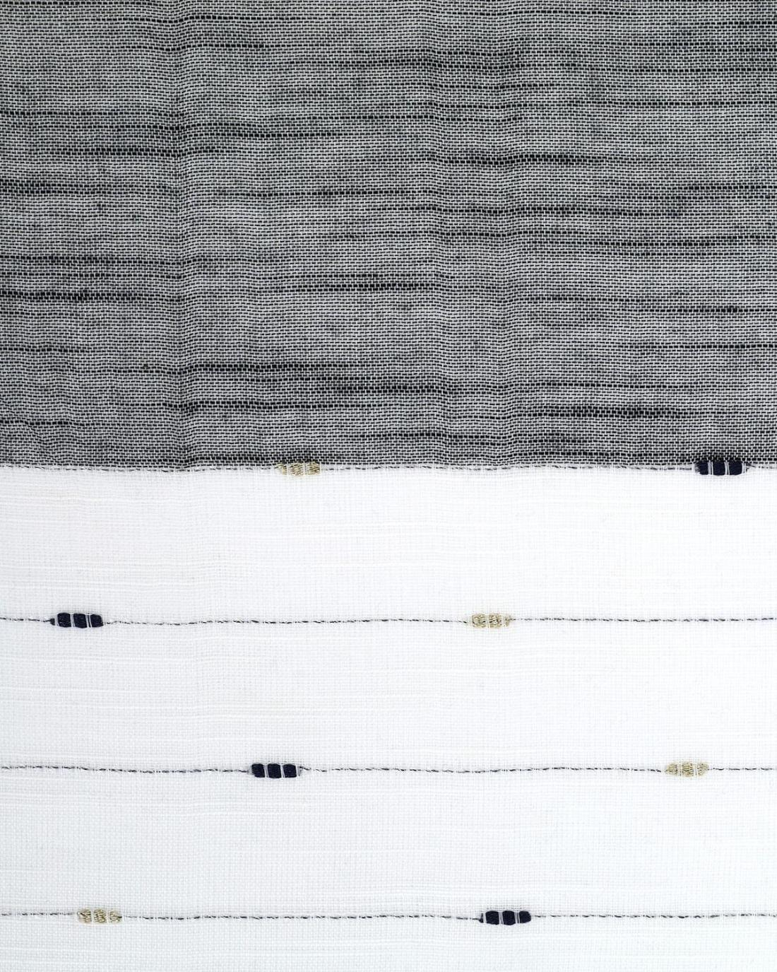 Schwarz pareo-foulard