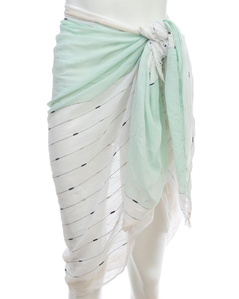 Minzgrün pareo-foulard