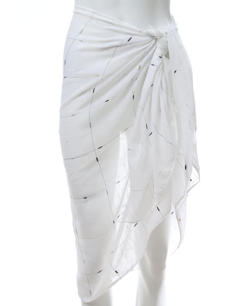 Παρεό-Φουλάρι άσπρο