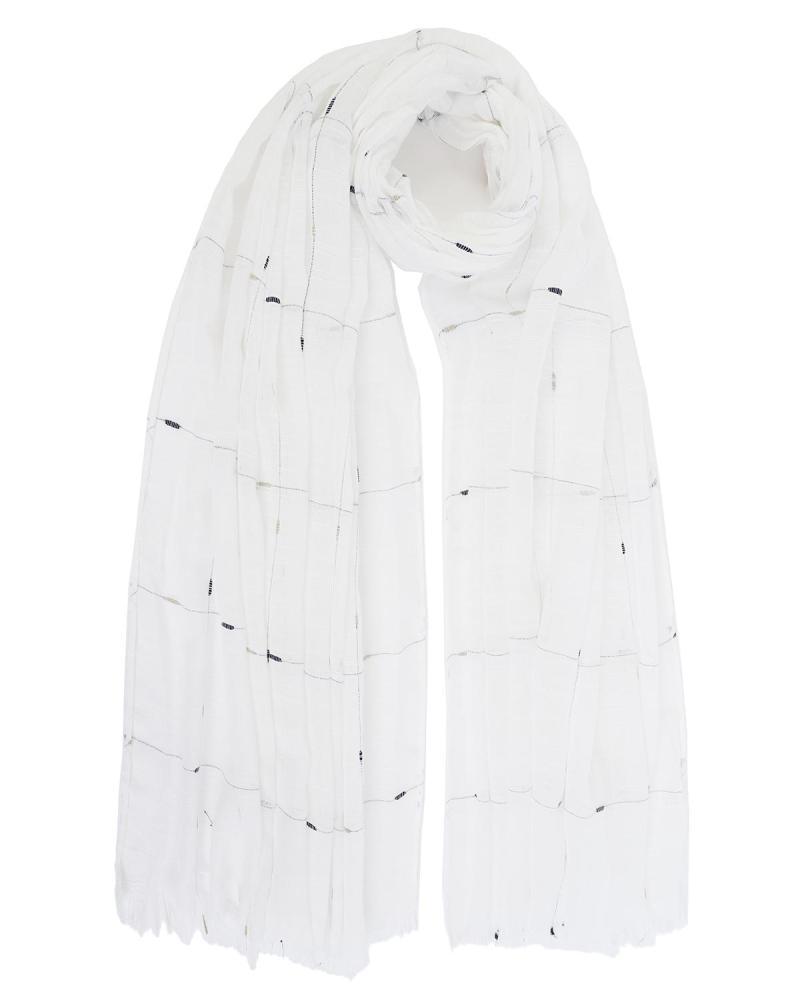 White pareo-foulard