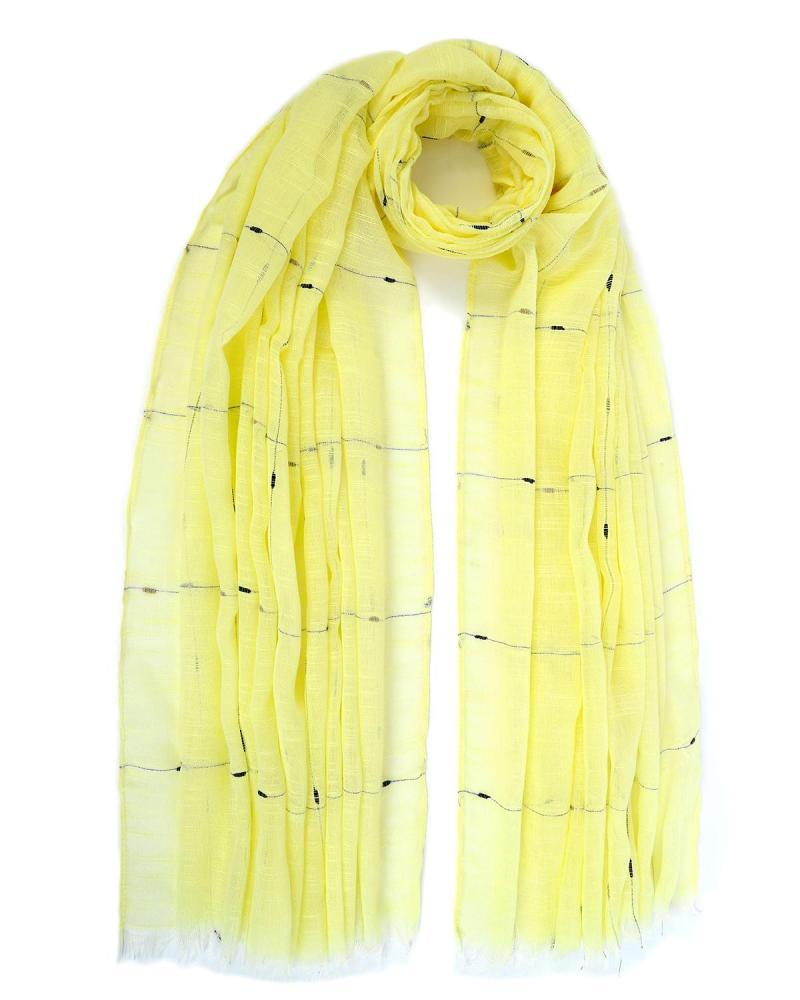 Yellow pareo-foulard