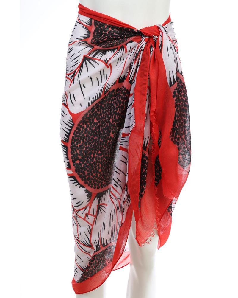 Red pareo-foulard