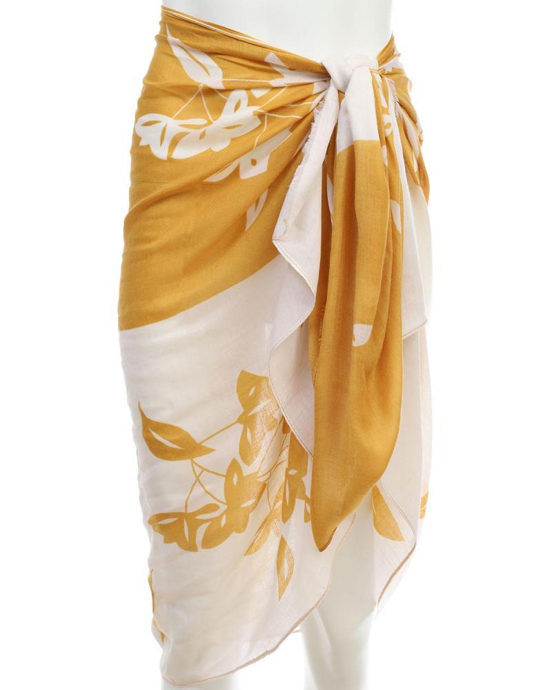 Gelb pareo-foulard