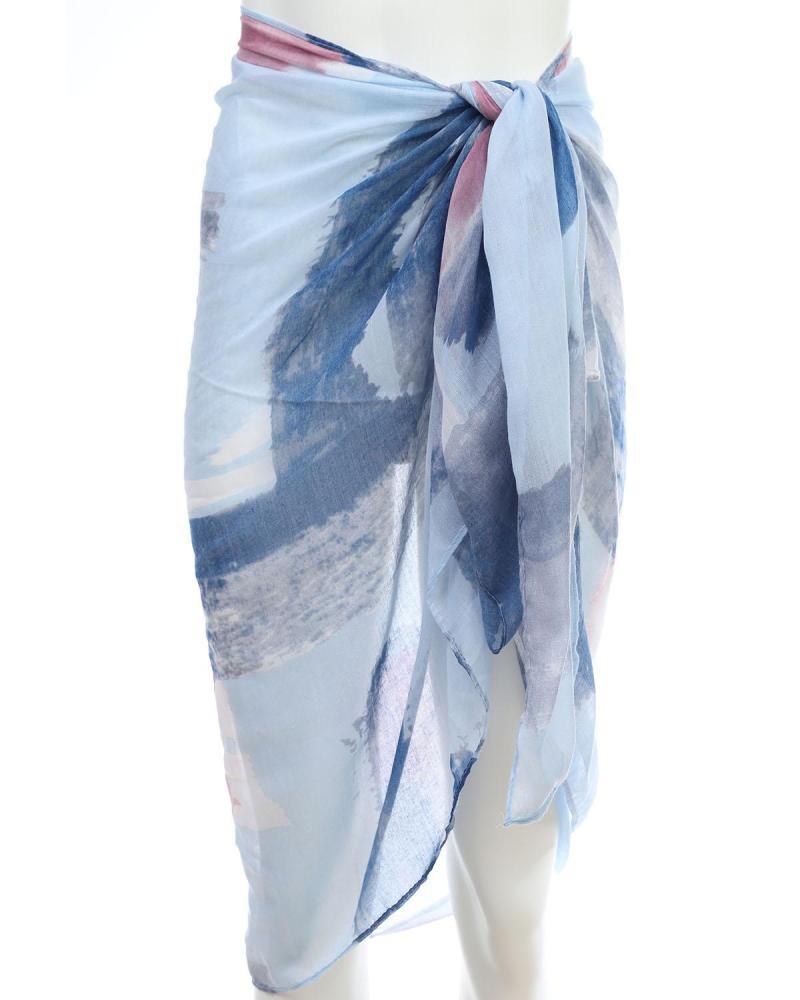 Blau pareo-foulard