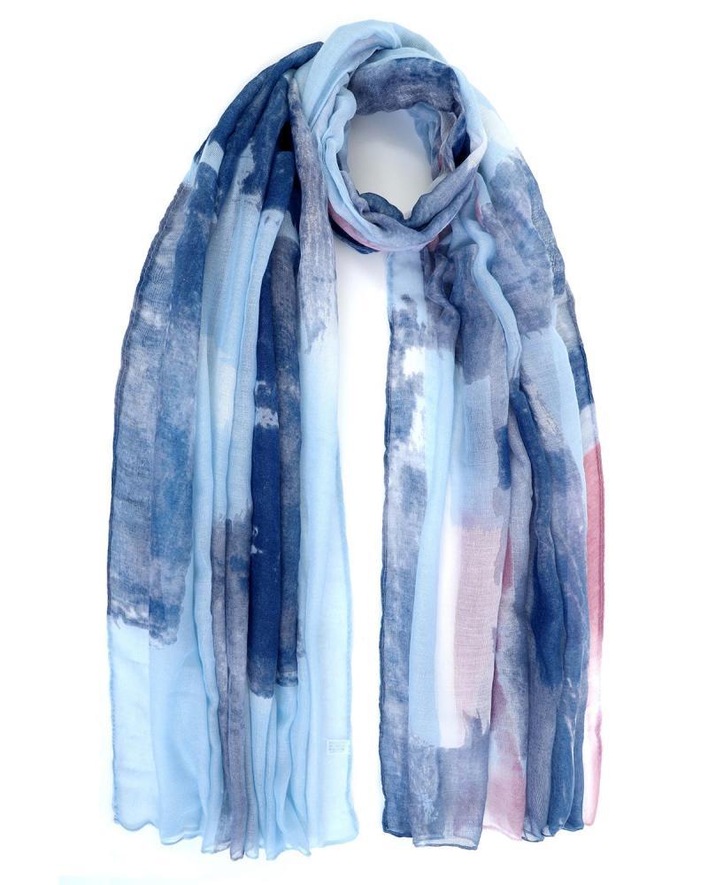 Blue pareo-foulard