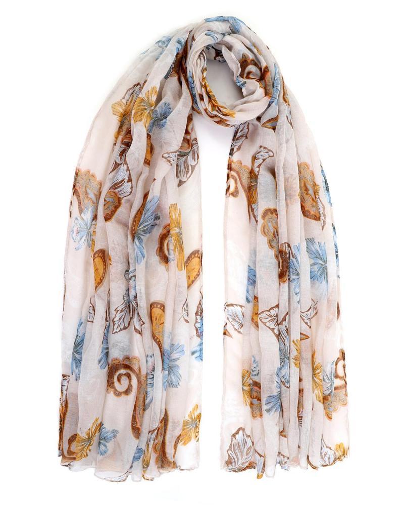 Beige pareo-foulard