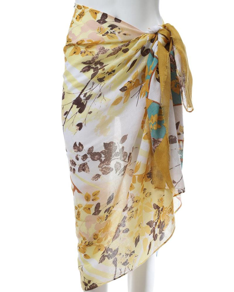 Yellow pareo-foulard