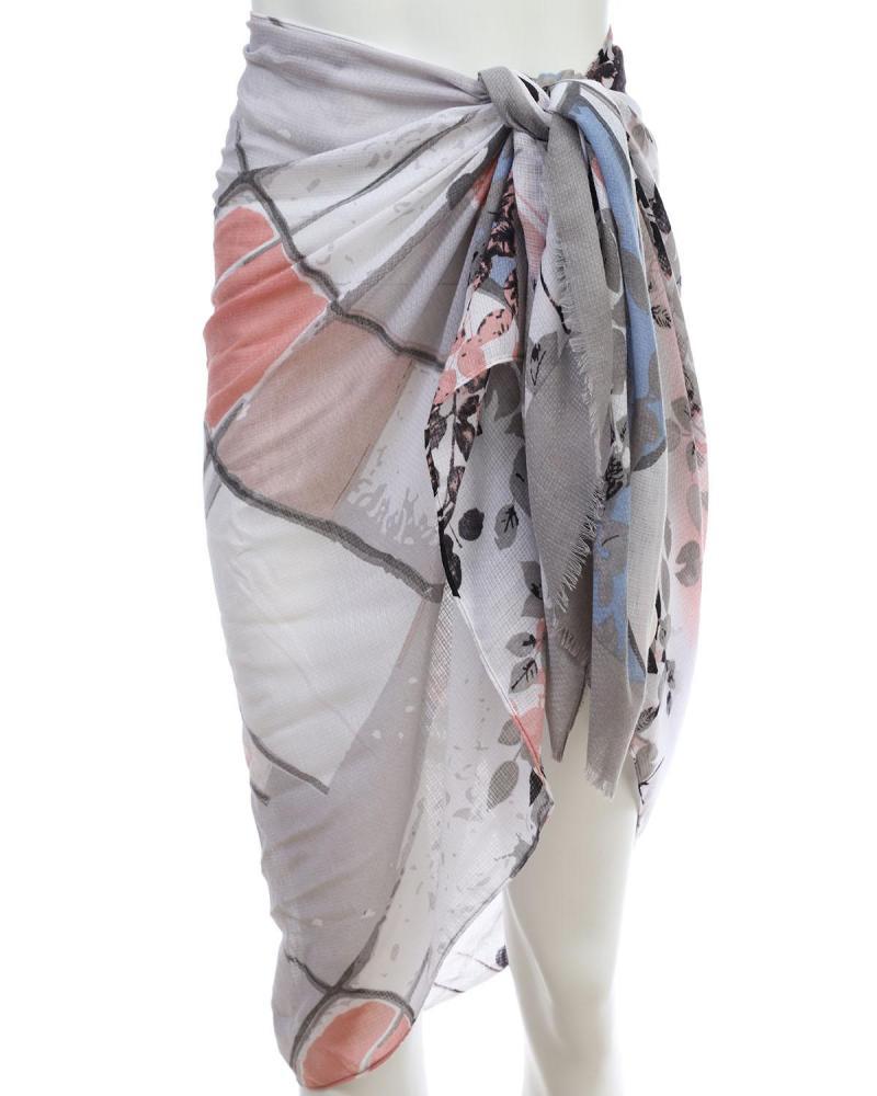 Grey pareo-foulard