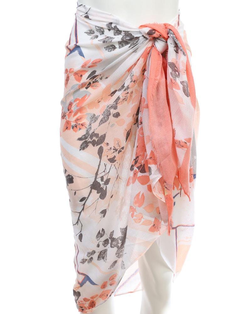 Pink pareo-foulard