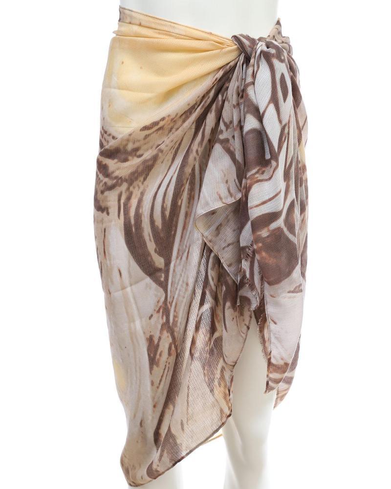 Brown pareo-foulard