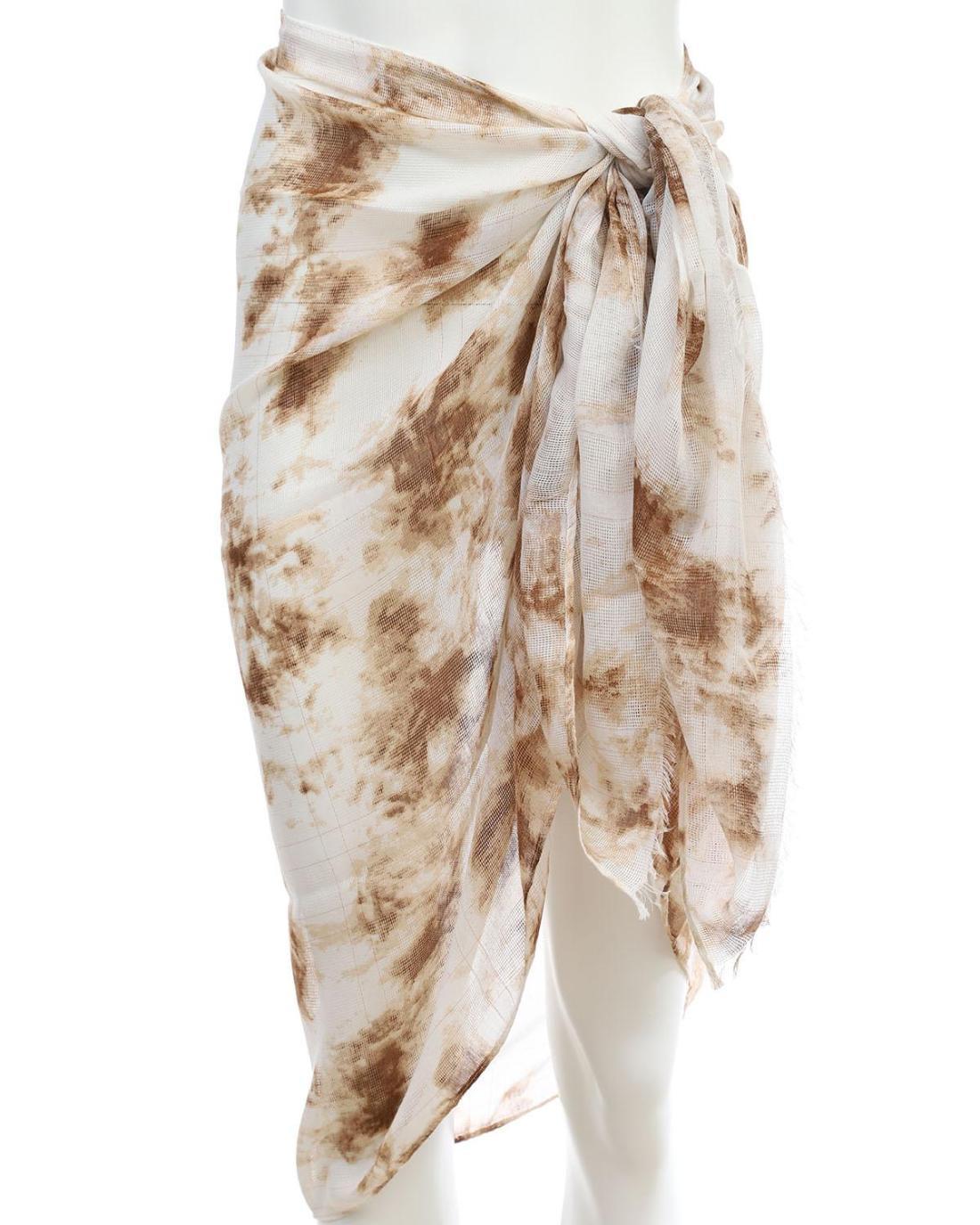 Ecru pareo-foulard