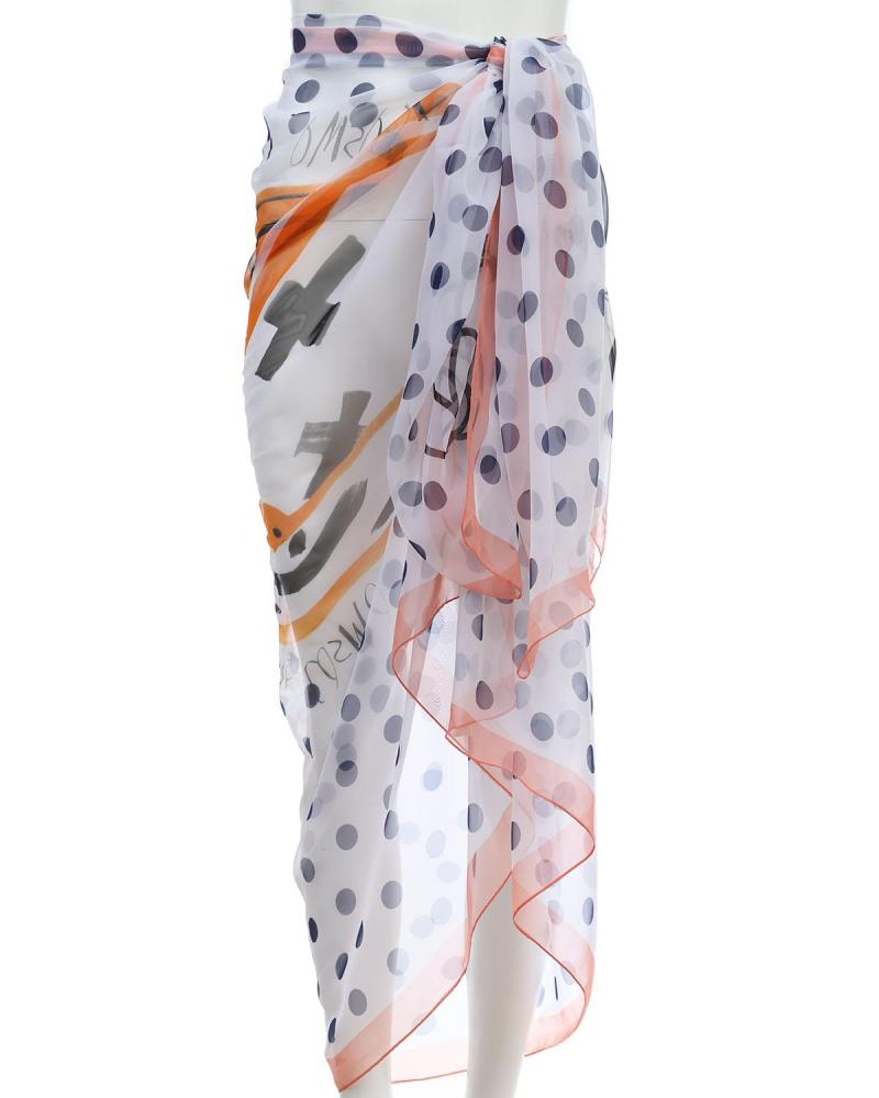 Mehrfarbig pareo-foulard