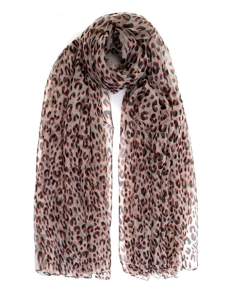 Animal print pareo-foulard