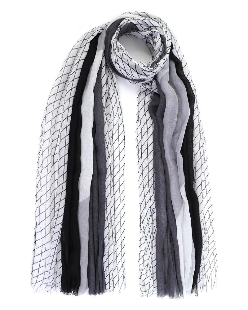 Weiß pareo-foulard