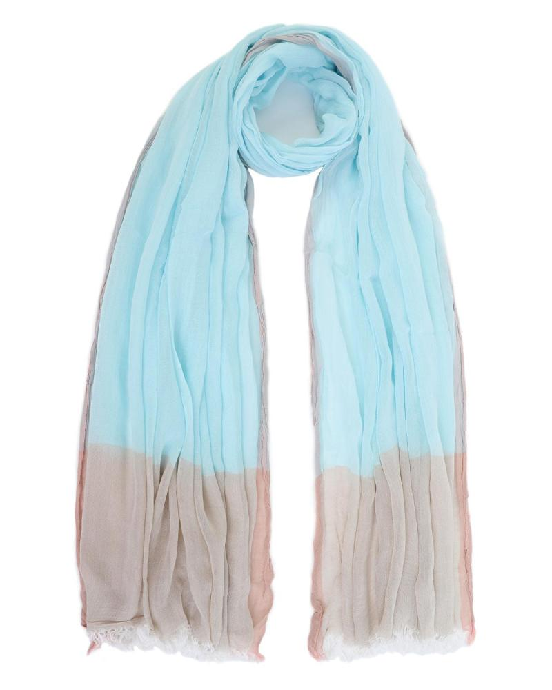 Light blue pareo-foulard