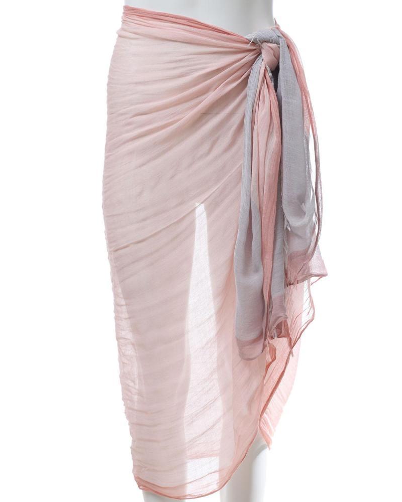 Παρεό-Φουλάρι ροζ