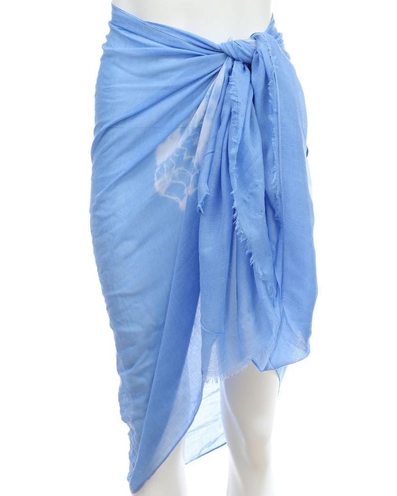 Light blue pareo-foulard