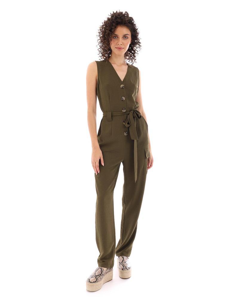 Khaki overall