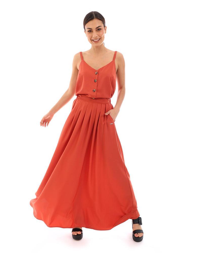 Red skirt