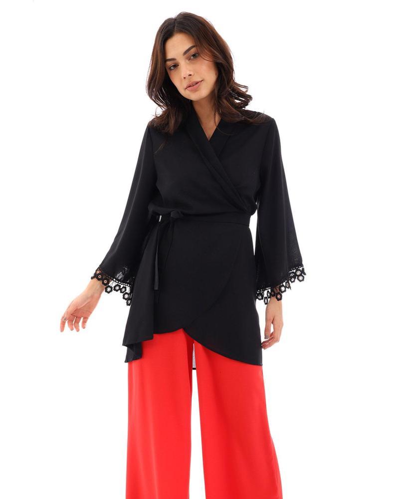 Schwarz kimono