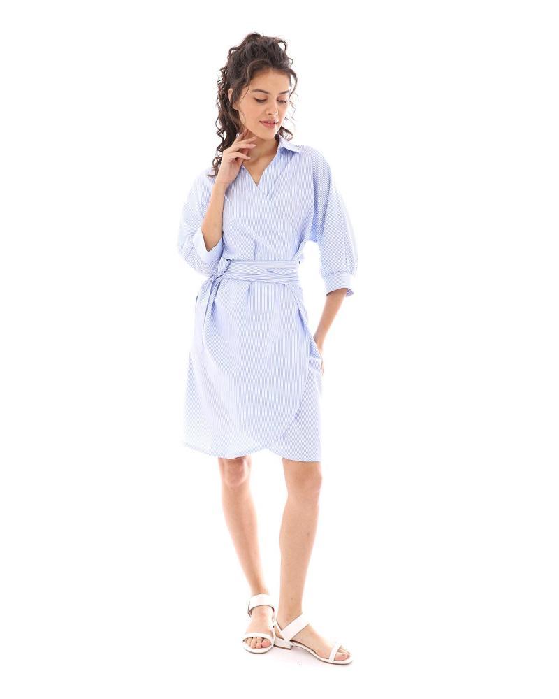 Blau kleid