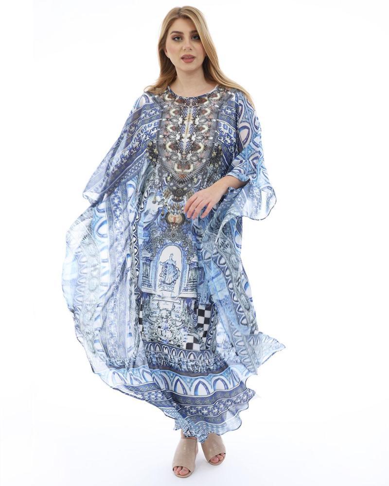 Hellblau kleid