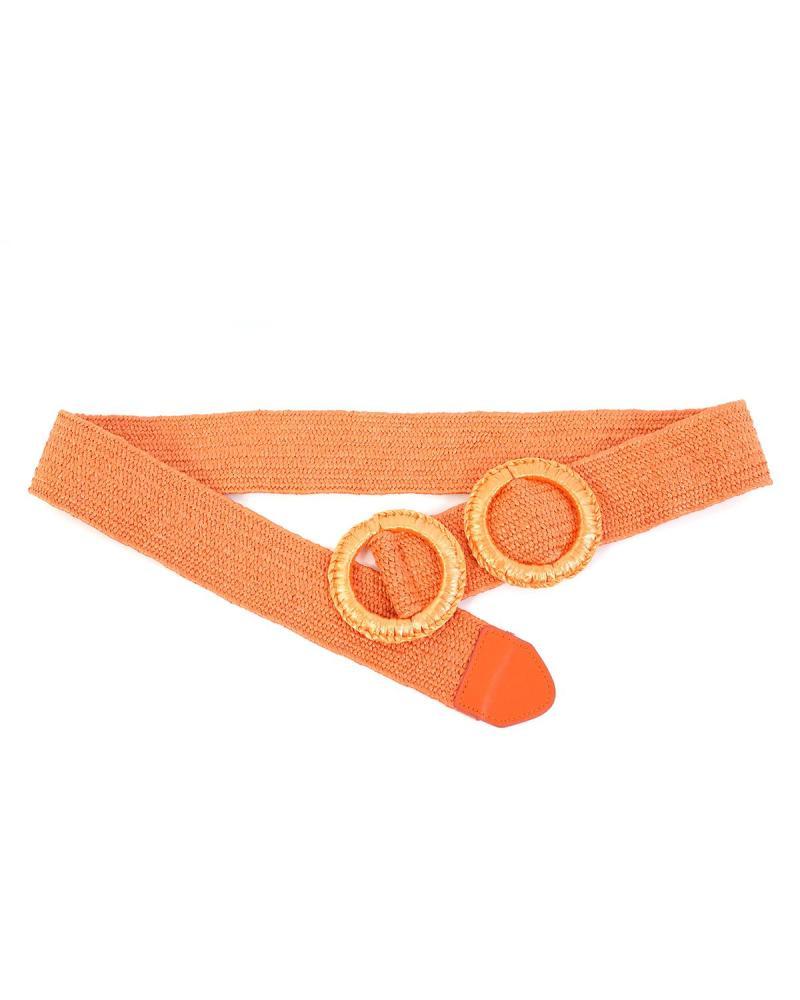 Ψάθινη ζώνη πορτοκαλί