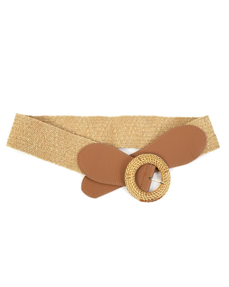 Paper straw brown belt