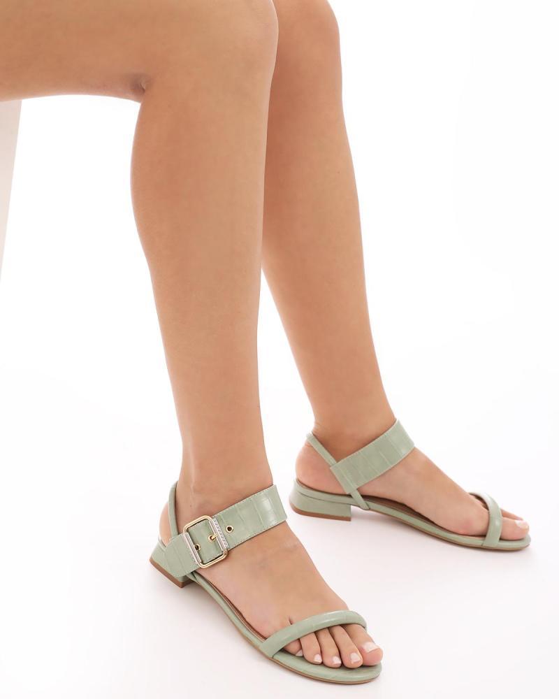 Minzgrüne sandalen