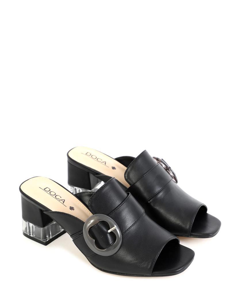 Schwarze mules