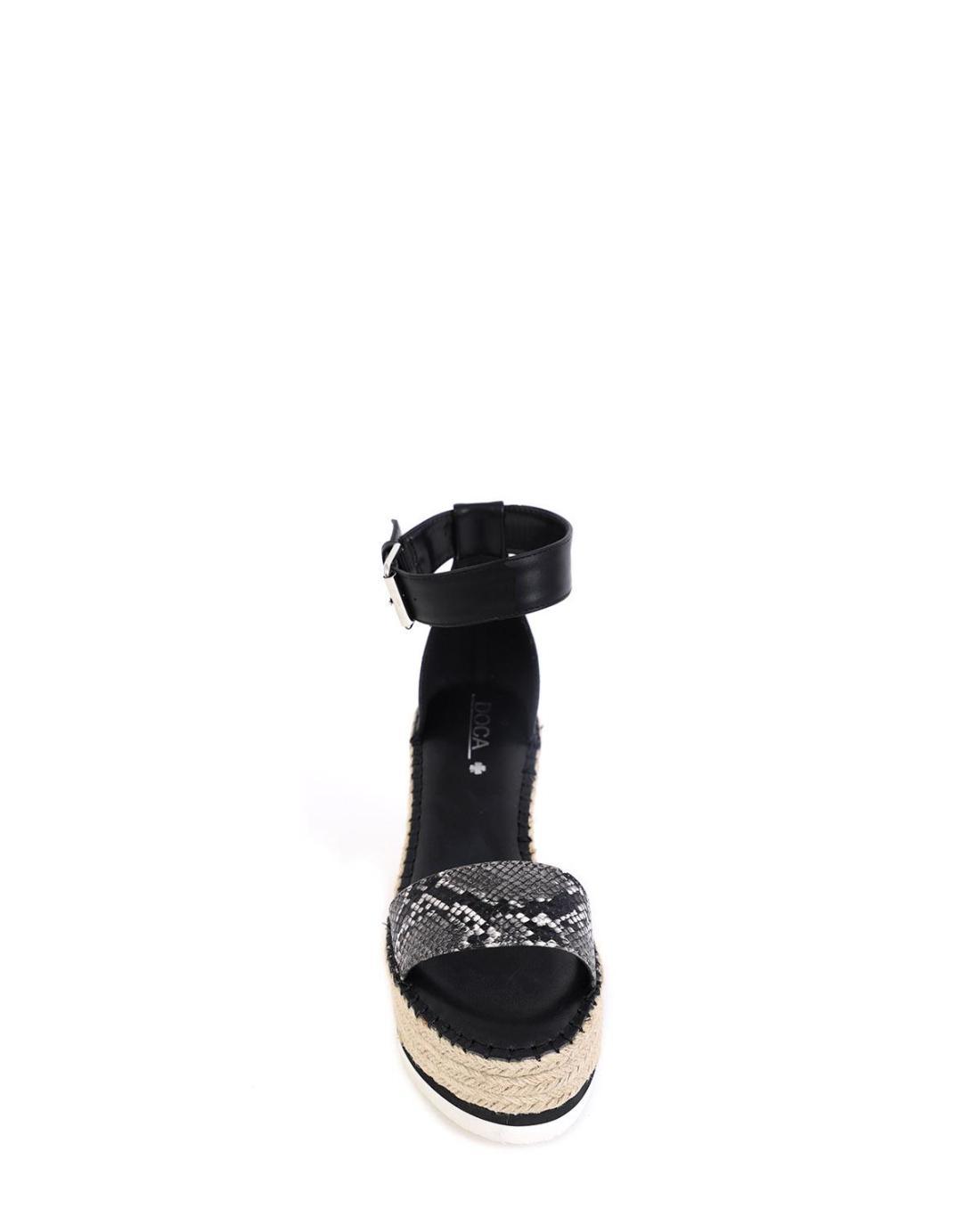 Πέδιλα-πλατφόρμες μαύρες