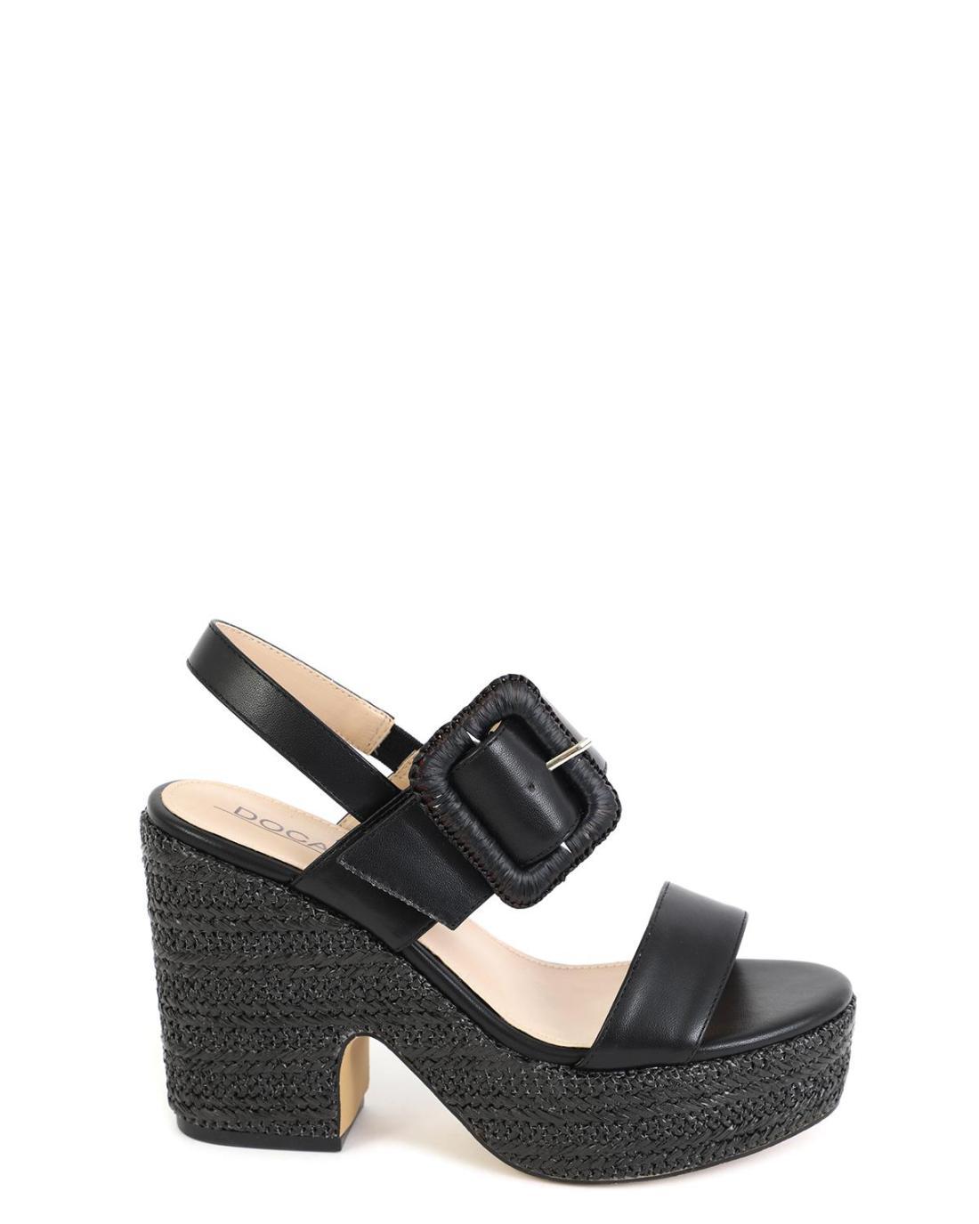 Black platform-sandals