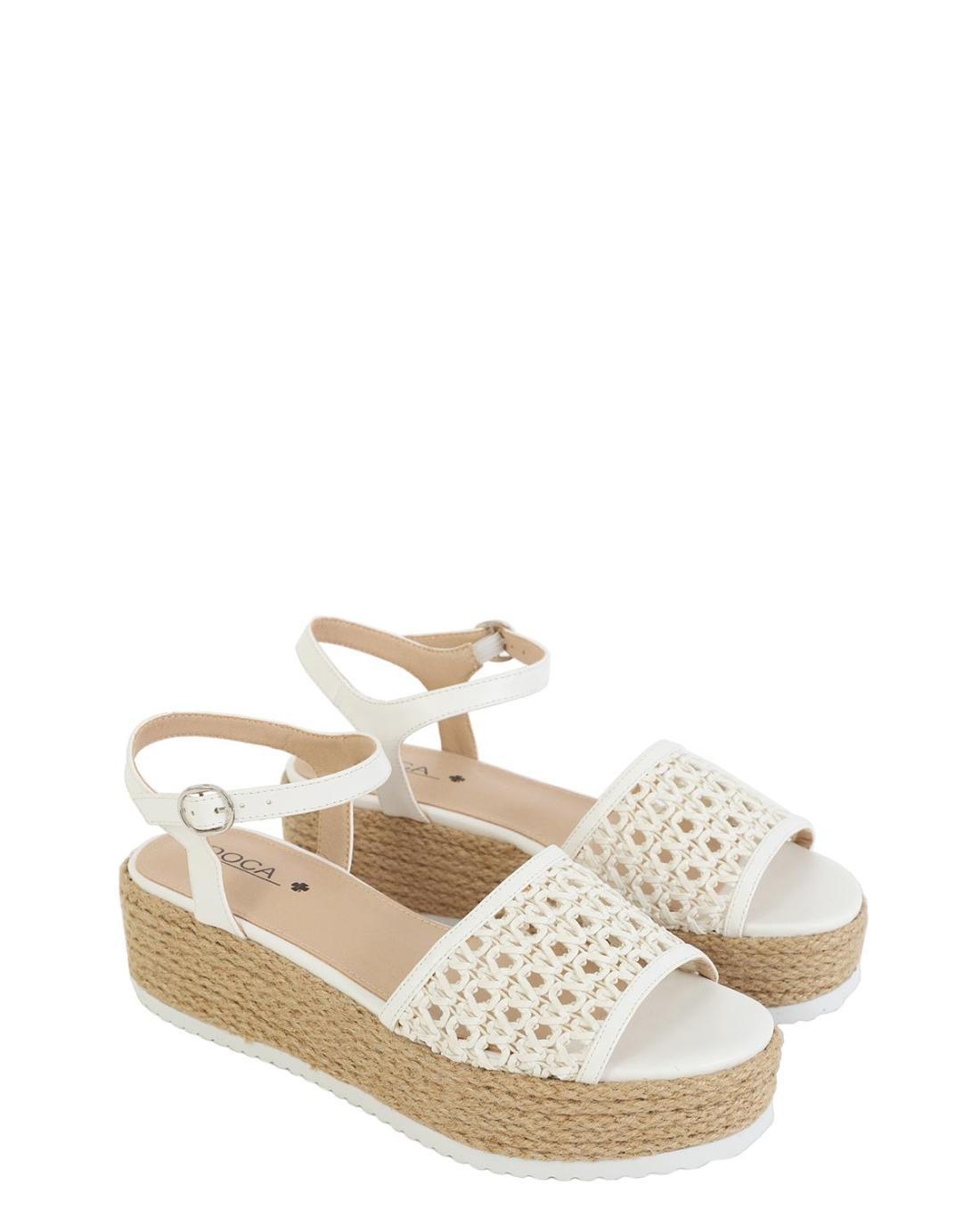 White platform-sandals