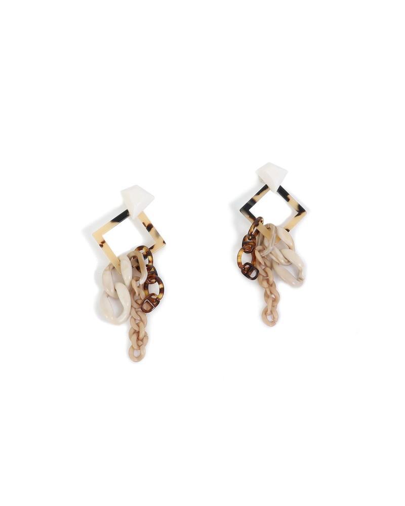 Beige earrings