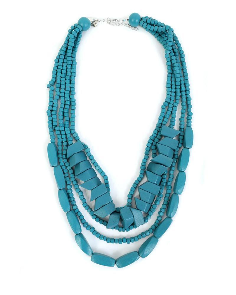 Hellblaue halskette