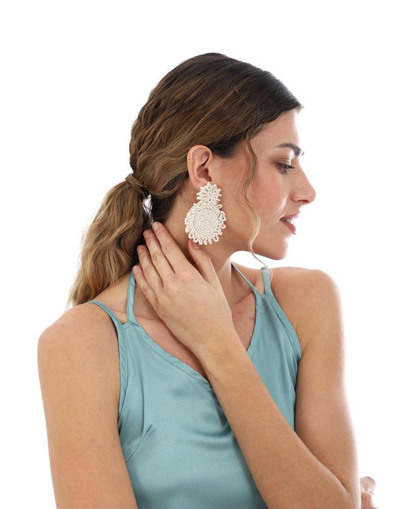 Σκουλαρίκια μπεζ