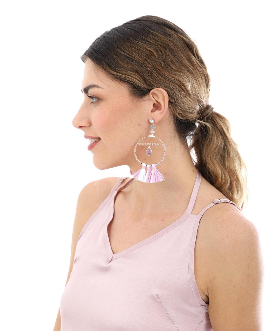 Σκουλαρίκια μωβ