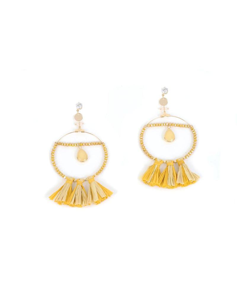 Σκουλαρίκια κίτρινα