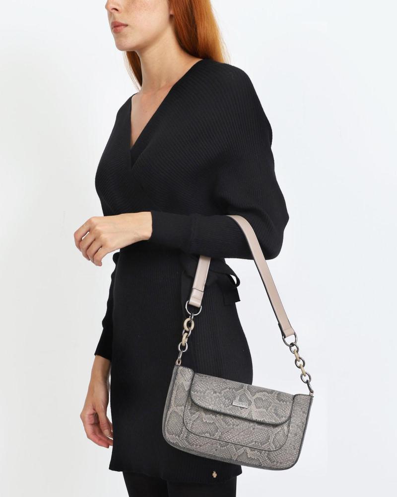 Καθημερινή τσάντα χιαστί/ώμου μπεζ